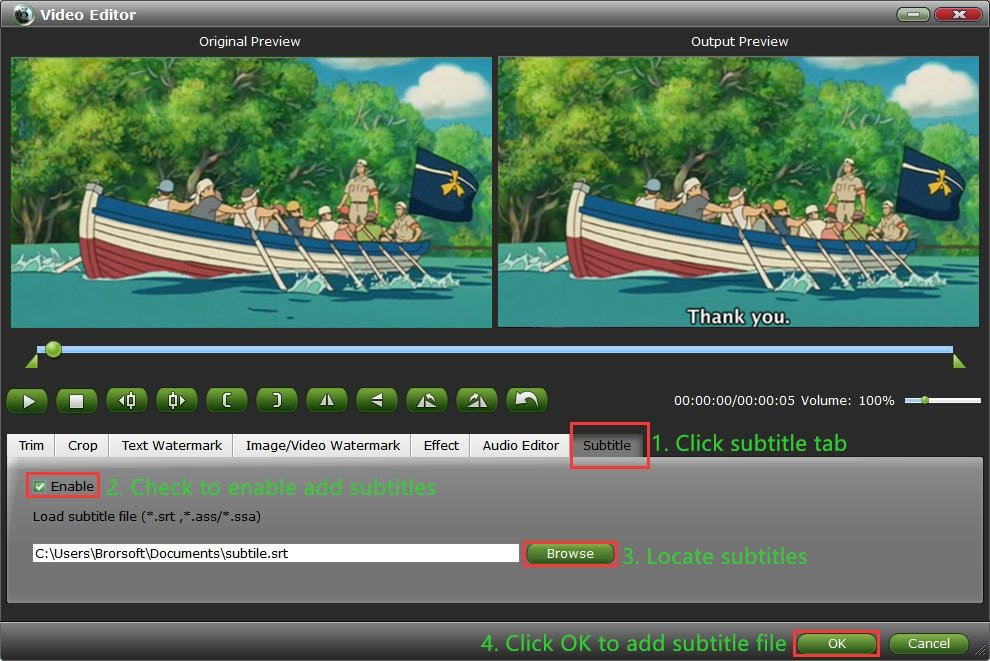 How to add subtitles to mp4 file on mac and windows add subtitleg ccuart Choice Image