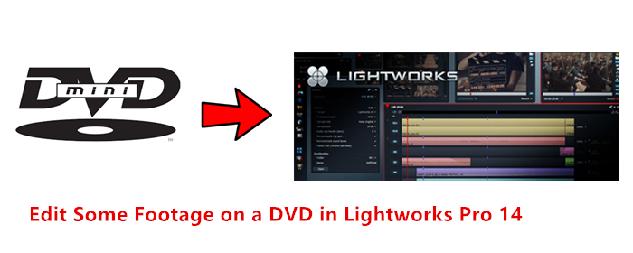 Get Lightworks 14 work with some footage on a DVD